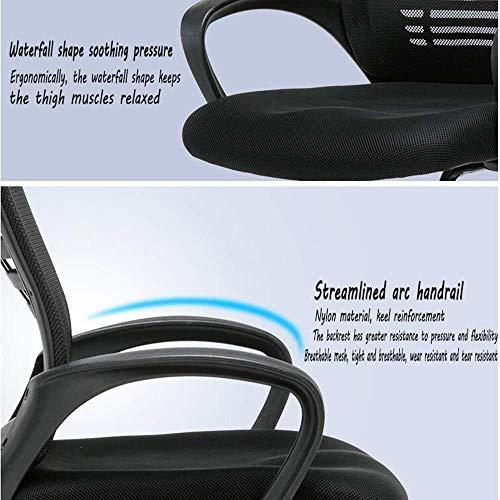 XKKD stol hem kontor stol rosett nät skrivbord stol ländrygg stöd stålram lärande stol bärande vikt 120 kg svart