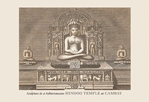 ArtParisienne Sculpture in a Subterraneous Hindoo Temple at Cambay Baron de Montalemert 20x30 Poster Semi-Gloss Heavy Stock Paper Print