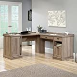 Sauder Barrister Lane L Shaped Desk in Salt Oak