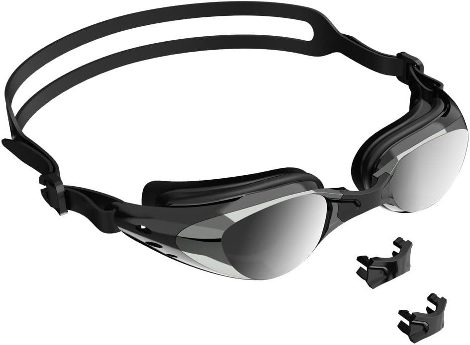 UPWADE Gafas De Natación ,Gafas para Nadar Gafas De Natación Antigoteo, Anti Fog y Protección UV Vista Clara Gafas de Natación Goggles para Hombres Mujeres Adultos con Estuche Protector -Negro