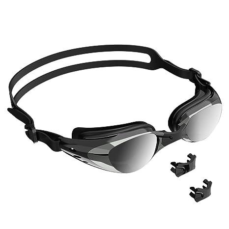 85e2a6253eb6 szdavsi Occhialini da Nuoto Silicone Specchiati con Lenti Anti Appannamento Protezione  UV Unisex Adulto per Donne