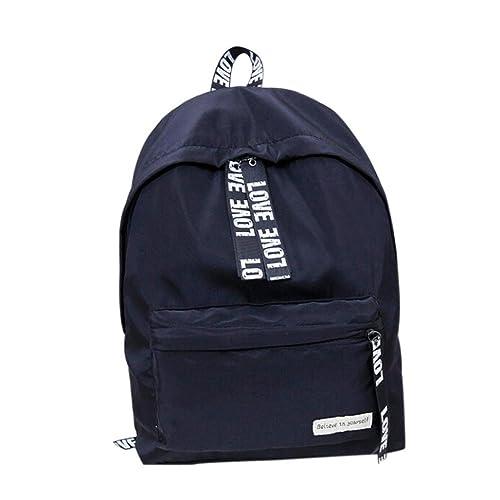 Amazon.com  2018 Girls Boys Letter School Bag Travel Backpack ... 2ea6cc4e00