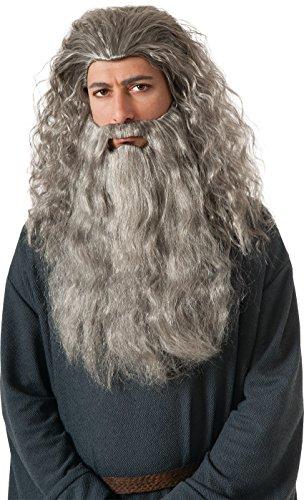 Gandalf Wig (Rubie's Costume The Hobbit Gandalf Beard Kit, Gray, One Size)