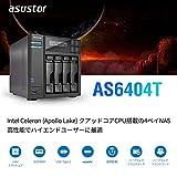 Asustor AS6404T, 4-Bay, Intel Celeron J3455