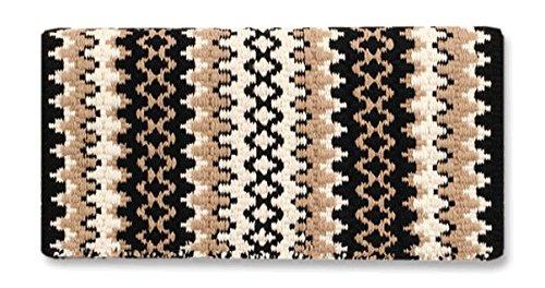 Mayatex Arroyo Seco Saddle Blanket, Black/Cream/Sand, 38 x 34-Inch Mayatex Western Show Saddle