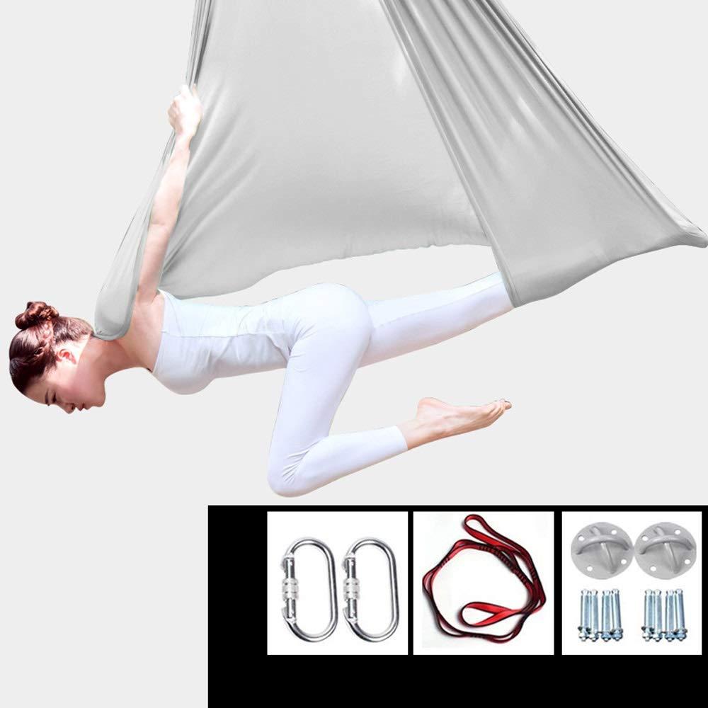 XDTCHEN Yoga Swing,Yoga Hammock Flying Hammock Swing Aerial Yoga Hammock Silk Fabric with Carabiner &Daisy Chain for Yoga Anti-Gravity Pilates,Aerial Acrobatic,Circus Arts, Aerial Dance by XDTCHEN