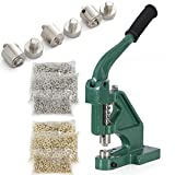 ARKSEN Grommet Machine Hand Press and 3000pc Stainless & Brass Eyelet Set, Green
