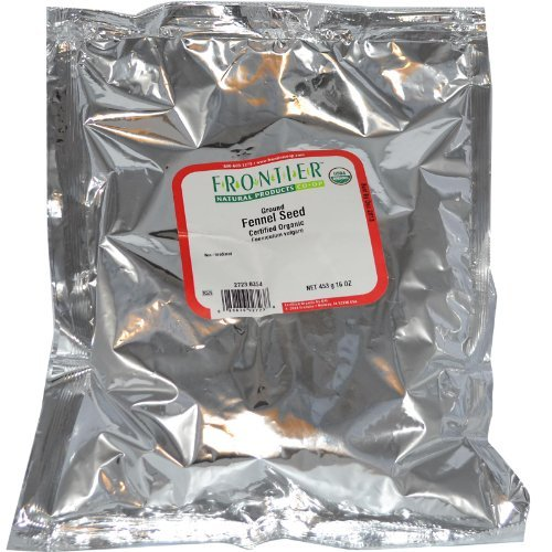 Frontier Natural Products Organic Ground Fennel Seed Powder -- 1 lb by Frontier