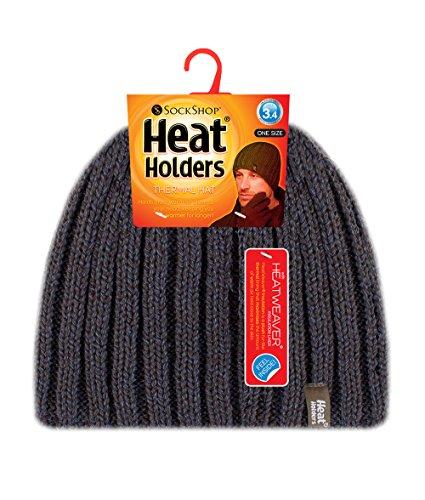 invierno hombre 4 Heat sombrero 3 de acanalado TOG forrado de punto polar caqui verde tamaño de Un Holders S77x4
