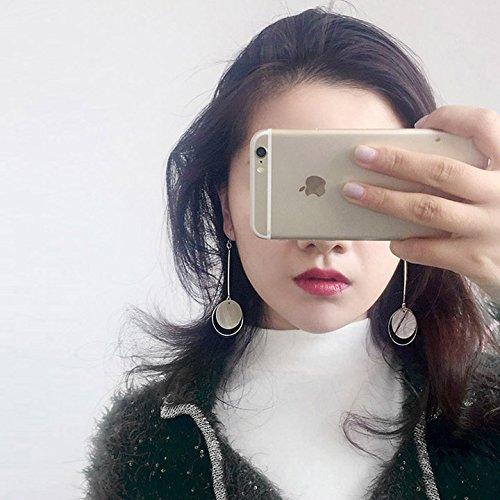 Girls earrings wild female Korean long section of small fresh fresh earrings earrings female models simple student mini-mom
