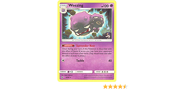 29//68 WeezingRare Reverse Holo CardPokemon Trading Card Game Hidden Fates