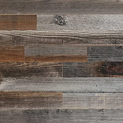 Epic Artifactory Reclaimed Barn Wood Wall Panel- Easy Peel and Stick Application