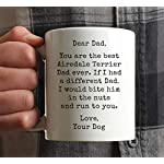 Andaz Press Funny Dog Dad 11oz. Coffee Mug Gag Gift, Best Airedale Terrier Dog Dad, Bite in Nuts and Run to You, 1-Pack, Dog Lover's Christmas Birthday Ideas, Includes Gift Box 6