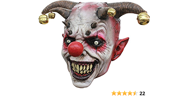 Ghoulish Productions Chompo The Clown Halloween Party Adult Costume Latex Mask Clothing