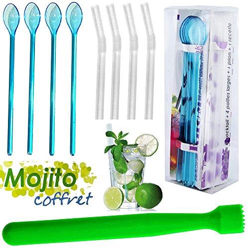 Aperitif Set (Promobo Set Aperitif Set Mojito Cocktail Pestle Large Straw 4 Aperitif Spoon)