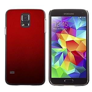 TopCaseStore / la caja del caucho duro de la cubierta de protección de la piel - Blood Deep Red Crimson Light - Samsung Galaxy S5 SM-G900