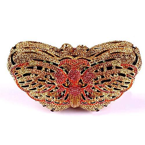 5 3 Ajouré Avec color Femme Cijfay Sac Pour À Papillon Diamants Main Chaîne pqnU7nHPw