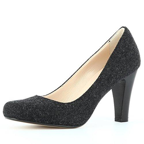 Escarpins Noir Feutre Shoes Femme Evita Maria waTx6