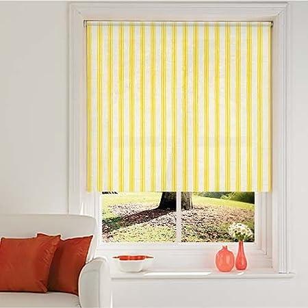 Charmant Stripe Roller Blinds   Seaside Stripe Yellow Roller Blind