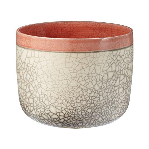 Dimond Lighting 142011 12'' Raku Fish Bowl, Poppy Orange Finish by Lazy Susan