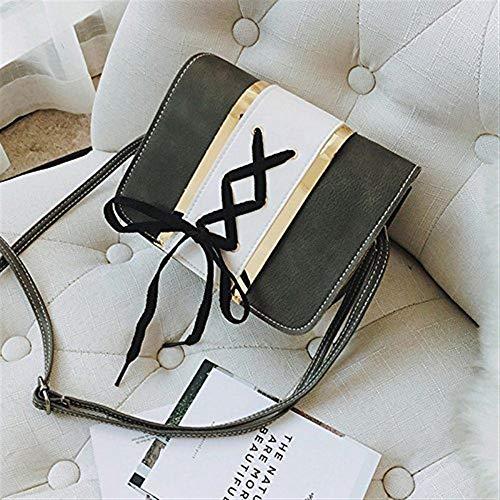 borsa quadrata borsa Moontang a Piccola green femminile Borsa Colore Mini tracolla borsa Borsa Dimensione The singola piccola Studenti piccola Pacchetto Grigio Una 556fZ