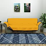 @home by Nilkamal Reversible 3 Seater Polyester Sofa Cover, Mustard & Brown