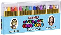 Kangaroo's Face Paint and Body Crayons - 16 Colors - Safe...