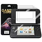 #9: Nintendo 3DS XL Screen Protector (5X Top + 5X Bottom) PET Full Coverage Highly Definition Screen Protector for Nintendo with Not Bubble Super Thin Anti-Glare & Anti-Fingerprint (Matte) by FENGWANGLI