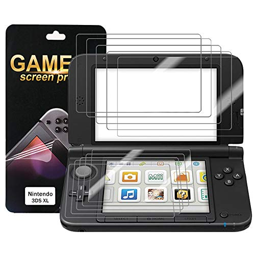 Nintendo 3DS XL Screen Protector (5X Top + 5X Bottom) PET Full Coverage Highly Definition Screen Protector for Nintendo with Not Bubble Super Thin Anti-Glare & Anti-Fingerprint (Matte) by FENGWANGLI