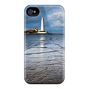 New Arrival Causeway To Lighthouse On St Marys Isl Engl ATfjKTT8875UAgVU Case Cover/ 4/4s Iphone Case