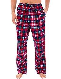 Mens Flannel Plaid Pajama Pants, Long Cotton Pj Bottoms