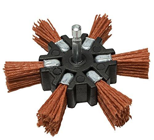 Century Drill and Tool 77341 Coarse Nylon Flap Brush, 4-Inch (80 Grit) - Primer Sand No Fiberglass