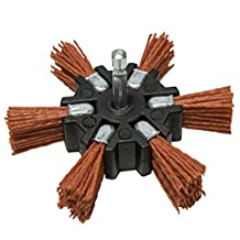 "Century Drill & Tool 77341 Coarse Nylon Flap Brush, 4"" (80 Grit)"