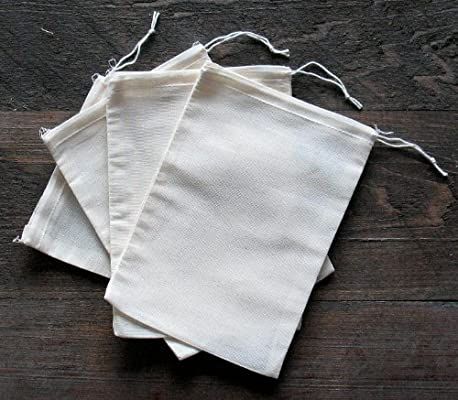 abf08e5b5293 Made in the USA 100% cotton muslin drawstring bags 100 count pack (all  natural, 5x7)