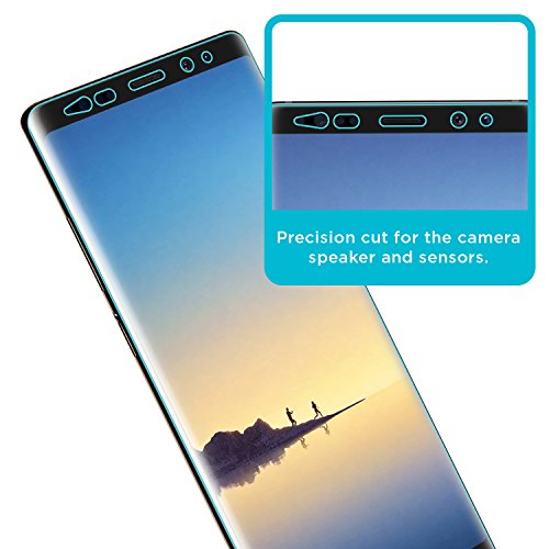 Tech Armor Samsung Galaxy Note 8 Screen Protector [Wet Applied] Thermoplastic Film (TPU) Complete Curved Edge Display Coverage, Bubble Free, HD Clear [2-pack]