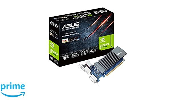 ASUS GT710-SL-1GD5-BRK - Tarjeta gráfica (GeForce GT 710, 1 ...