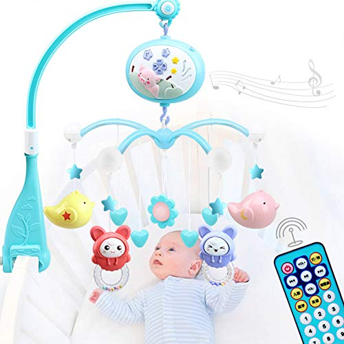 $57.99 Target Infant Car Seats AIBAB Baby Musical Mobile Newborn Rattle Bed Bell 0-1 Years Old Baby Toy Music Rotation Music Player ABS Material Baby Gift [Batteries Not Included] Blue 2019