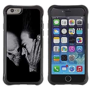 KROKK CASE Apple Iphone 6 - skull death scream Halloween deep metal - Funda Carcasa Bumper con Absorción de Impactos y Anti-Arañazos Espalda Slim Rugged Armor