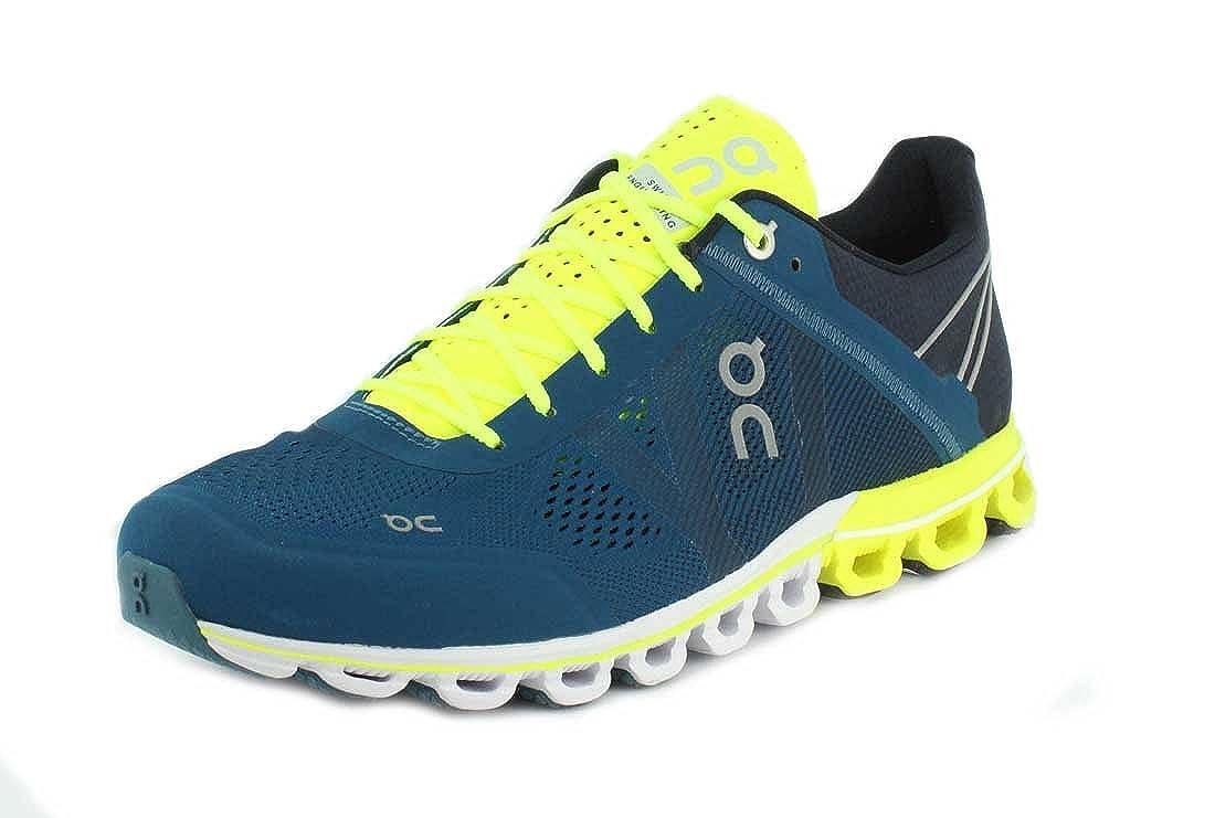 promo code 1617c 73e38 On Running Mens Cloudflow Petrol/Neon Running Shoe - 8