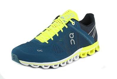 6114309a32bc7 On Running Mens Cloudflow Petrol/Neon Running Shoe - 10