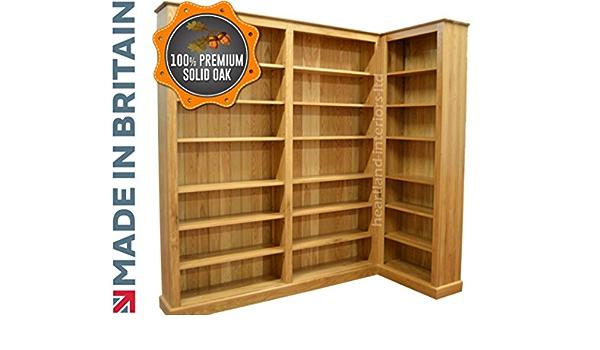 Heartland Oak 100% Roble Macizo librería, Hecho a Mano 7 ft ...