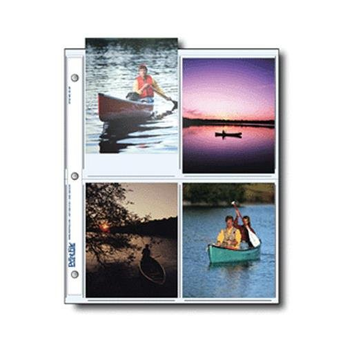 Print File Archival Photo Pages Holds Eight 4x5'' Prints, Pack of 500 by Print File