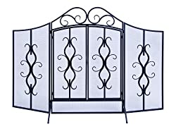 3 Panel Metal Fireplace Screen from Woodland Imports
