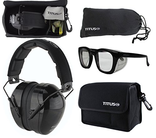 B4 Earmuff/Glasses Combo Kit (G12 Clear - Retro Black - Style Malaysia Hi