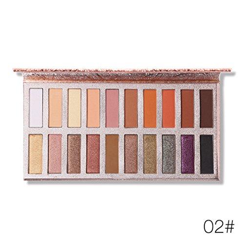 4 Colores Moda Glitter Sombreador De Ojos Paleta Natural Maquillaje Nude Shimmer Sombra De Ojos Con Cepillo 20 color 02