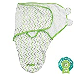 Baby-Swaddle-Blanket-Wrap-Set-3-Pack-Green-Grey-Chevron-Dot-Solid