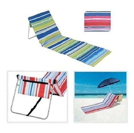 Lounger - Esterilla plegable STRIPE PINK BLUE: Amazon.es: Jardín