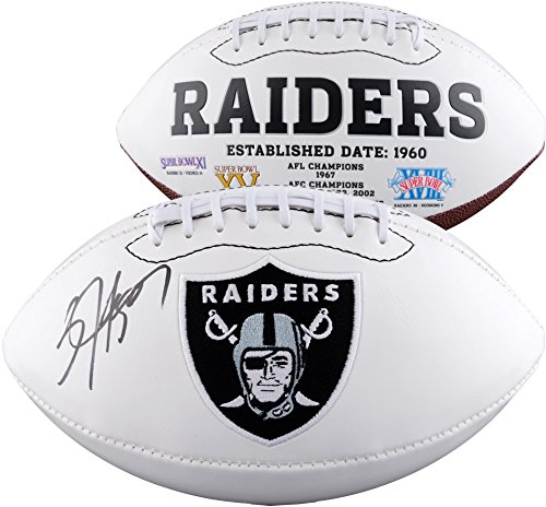 Bo Jackson Oakland Raiders Autographed White Panel Football - Fanatics Authentic Certified - Autographed Footballs