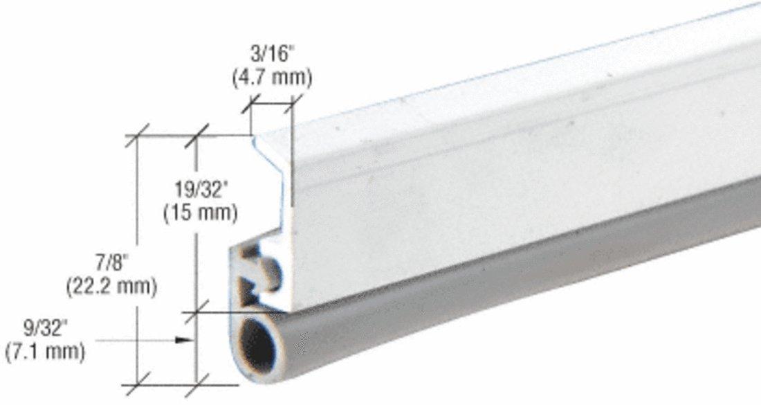 CRL DW950A Aluminum 36; x 84; Vinyl Bulb Seal Door Jamb Weatherstrip