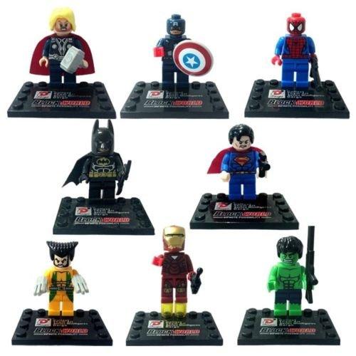8pcs NEW Super Heroes Marvel Avengers Lego Building Blocks Bricks Toys 818